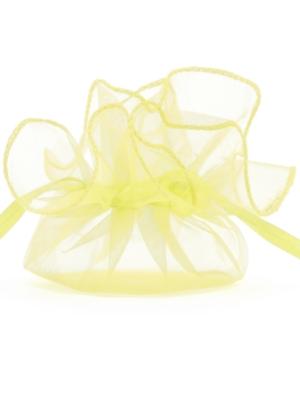 20 gab, Organzas maisiņi, gaiši dzelteni, 26 cm