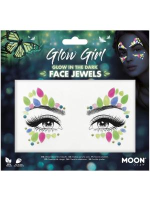 Dimantiņi sejai - Glow Girl, spīd tumsā