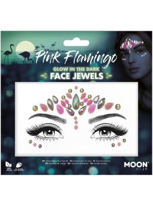 Dimantiņi sejai - Pink Flamingo, spīd tumsā