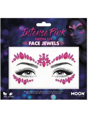 Dimantiņi sejai - neona rozā krāsā UV