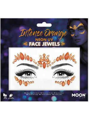 Dimantiņi sejai - neona oranžā krāsā UV