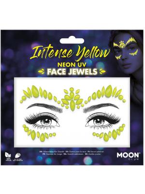 Pašlīmējošie dimanti sejai - neona dzeltenā  krāsā UV