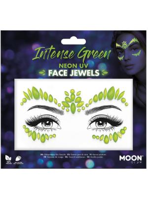 Dimantiņi sejai - neona zaļā krāsā UV