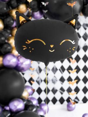 Folija balons kaķis, melns, 48 x 36 cm