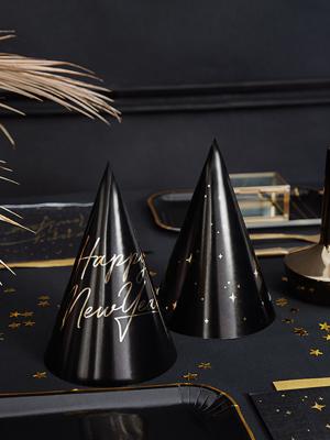 6 gab, Papīra cepures - Happy New Year, 10 х 16 cm