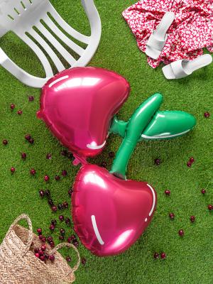 Folija balons ķirsis, sarkans, 88 x 73 cm
