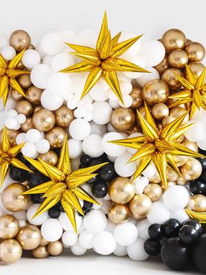 Folijas 3D zvaigzne, zelta, 70 cm