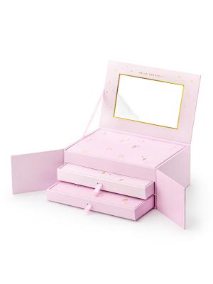 Adventes kalendārs - lādīte, rozā krāsā 23 x 15 x 9,5 cm
