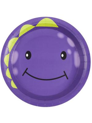 8 gab, monstriņu šķīvīši, violetā krasā, 23 cm