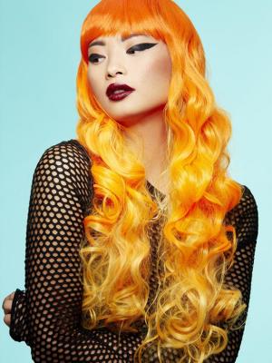 Parūka Sirēna - Psihodēlisks saullēkts, oranža ombre
