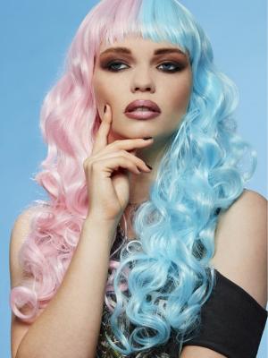 Parūka cukurvates enģelis, gaiši rozā, gaiši zilā krāsā.