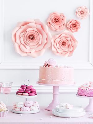 5 gab, Papīra ziedi, rozā krāsā