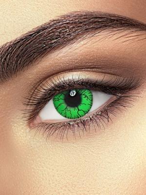 Lēcas Halka acs, zaļas ar dzeltenu