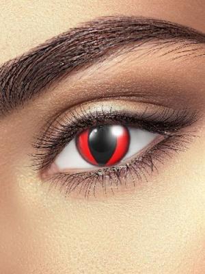 Lēcas sarkana kaķa acs, melnas ar sarkanu