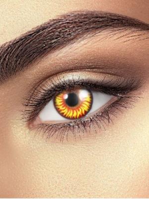 Lēcas elles kaķa acs, melnas ar dzeltenu