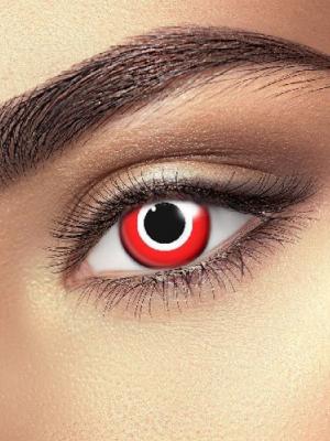 Lēcas  slepkavas acs, sarkanas ar baltu