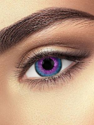 Lēcas galaktikas acs, zilās ar violetu