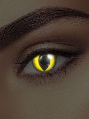 UV lēcas dzeltena kaķa acs, melnas ar dzeltenu