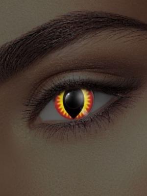 UV lēcas pūķa acs, sarkanas ar dzeltenu