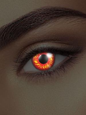 UV lēcas vilka acs, sarkana ar dzeltenu