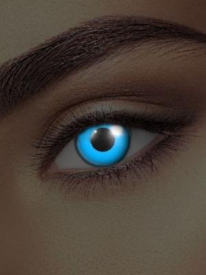 UV lēcas, zilas