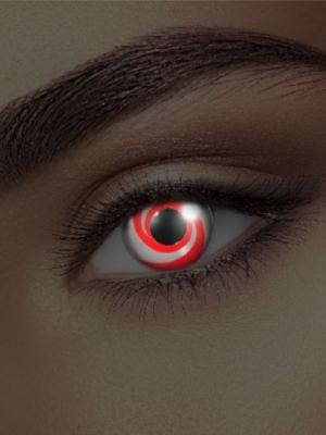 UV lēcas virpuļa ilūzija, sarkanas