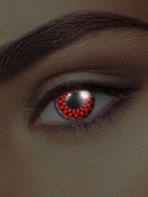 UV lēcas šaha ilūzija, melnas ar sarkanu