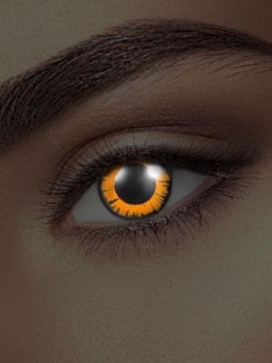 UV lēcas Bella, melnas ar oranžu