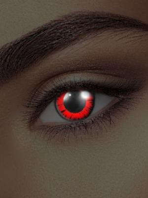 UV lēcas Dollija, melnas ar sarkanu