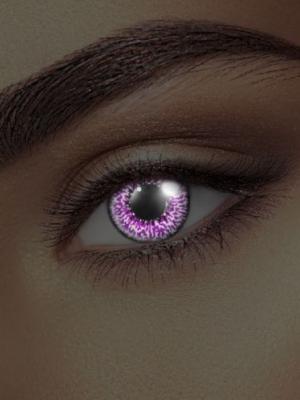 UV lēcas violets ametists, melnas ar violetu