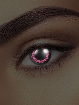 UV lēcas taurenis, melnas ar rozā