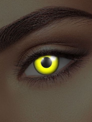 UV lēcas, dzeltenas