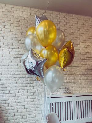 "Hēlija pušķis ""4 zvaigznes + 12 baloni"""