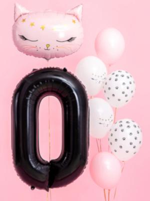 Balons 0, melns, 86 cm