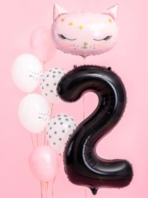 Balons 2, melns, 86 cm