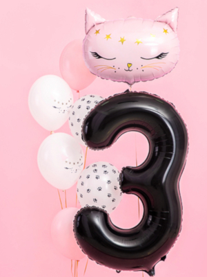 Balons 3, melns, 86 cm