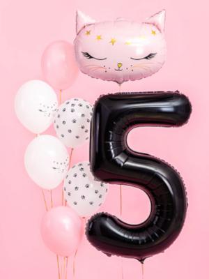 Balons 5, melns, 86 cm