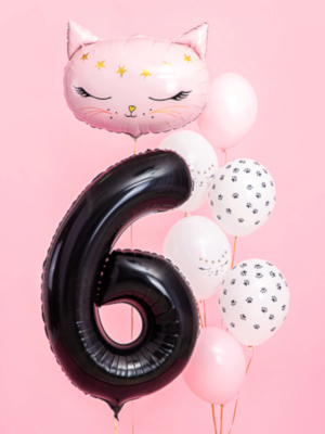 Balons 6, melns, 86 cm