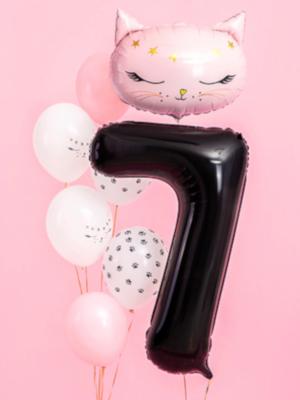 Balons 7, melns, 86 cm