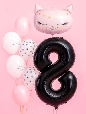 Balons 8, melns, 86 cm