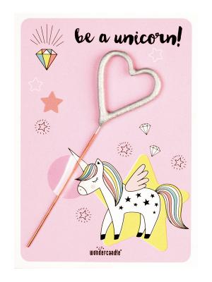 "Mini kartiņa, ""Be a unicorn!"", 11,5 cm x 8,5 cm"