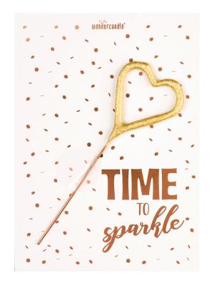 "Mini kartiņa, ""Time to sparkle"" 11,5 cm x 8,5 cm"