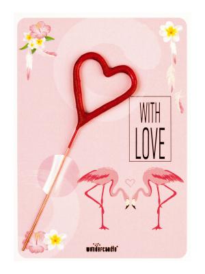 """Mini kartiņa, """"With love"""",  11,5 cm x 8,5 cm"""