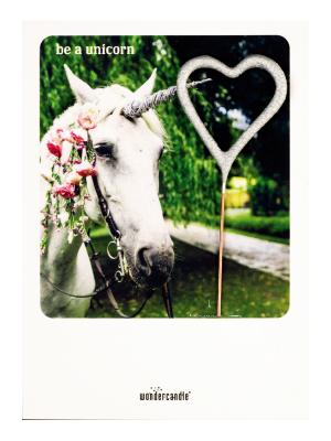 "Mini kartiņa, ""Be a unicorn"" 11,5 cm x 8,5 cm"
