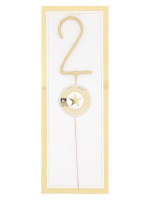 Liela cipara 2 formas brīnumsvecīte, zelta, 32,2 x 12,2 cm