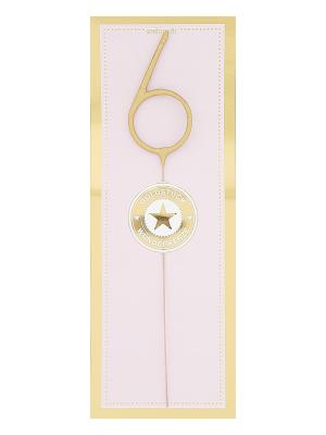 Liela cipara 6 formas brīnumsvecīte, zelta, 32,2 x 12,2 cm