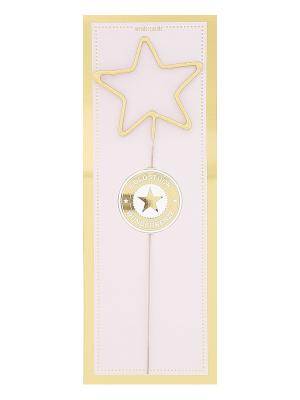 Liela zvaigznes formas brīnumsvecīte, zelta, 32,2 x 12,2 cm