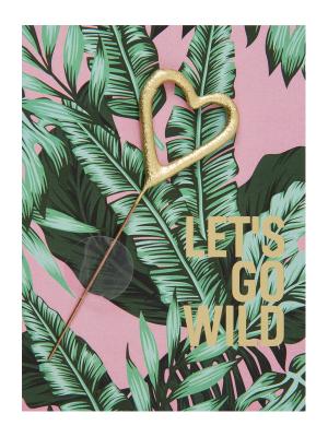 "Mini kartiņa,""Lets go wild "" 11,5 cm x 8,5 cm"