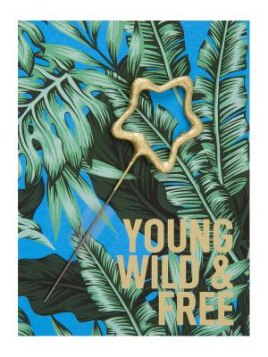 "Mini kartiņa,""Young Wild & free""  11,5 cm x 8,5 cm"