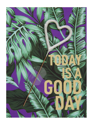 "Mini kartiņa,""Today is a good day"" 11,5 cm x 8,5 cm"
